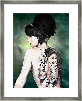 Laid Bare Framed Print by Maynard Ellis