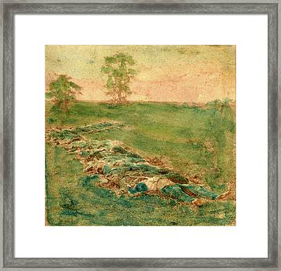 Laid Out For Burial At Antietam, Us, Usa Framed Print by Litz Collection