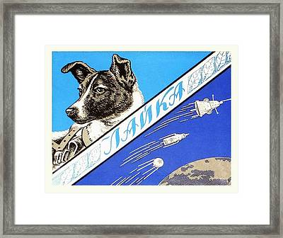 Laika Space Dog Commemorative Packaging Framed Print