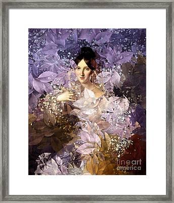 Laila - Des Femmes Et Des Fleurs Framed Print