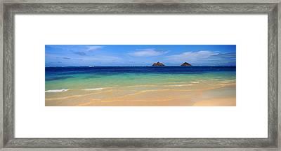 Lainki Beach, Oahu, Hawaii, Usa Framed Print by Panoramic Images
