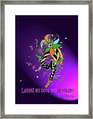 Laissez Les Bon Temps Rouler Framed Print by Lizi Beard-Ward
