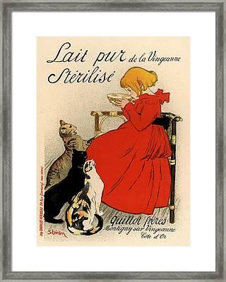 Lait Pur De La Vingeanne Sterilise Framed Print by Gianfranco Weiss