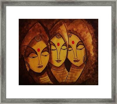 Lajja - The Indian Women Expression Framed Print by Shraddha Tiwari