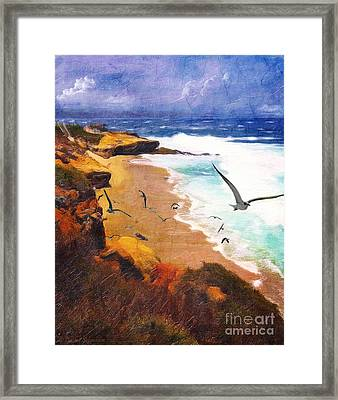Lajolla Afternoon Framed Print by Lianne Schneider