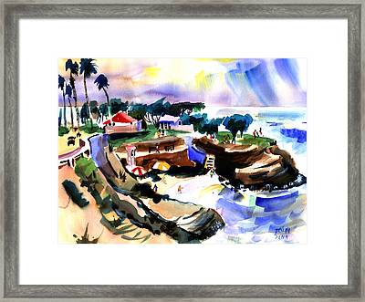 Lajolla Cove Framed Print by John Dunn