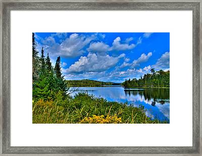 Lake Abanakee - Indian Lake New York Framed Print by David Patterson