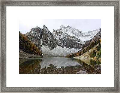 Framed Print featuring the photograph Lake Agnes by Ramona Johnston