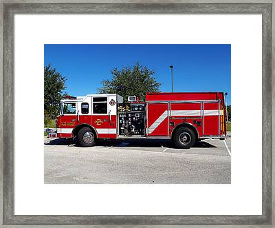 Lake Alfred Engine 2  Framed Print by Chris Mercer