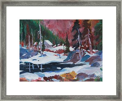 Lake Algonquin Park  Revisited Framed Print by Sherrill McCall