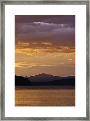 Framed Print featuring the photograph Lake Almanor Sunset by Sherri Meyer
