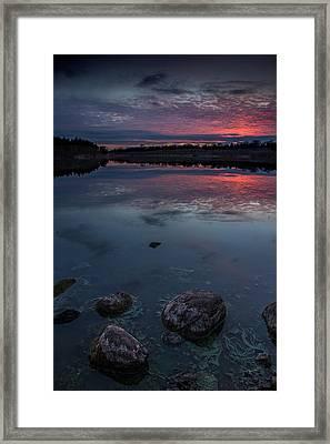 Lake Alvin Dusk Framed Print by Aaron J Groen