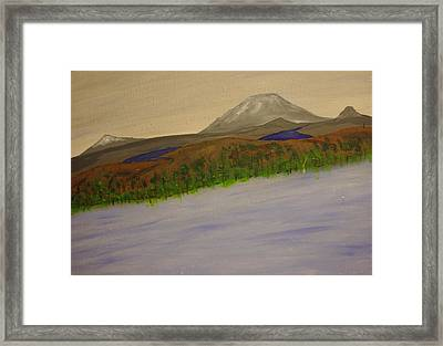 Lake And Mountains Framed Print by Keith Nichols