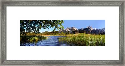 Lake And Mountains Panorama Framed Print