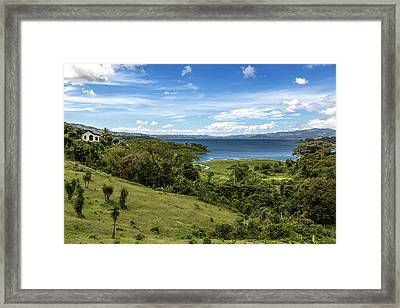 Lake Arenal View In Costa Rica Framed Print by Andres Leon