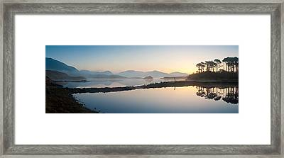 Lake At Dawn, Derryclare Lake Framed Print by Panoramic Images