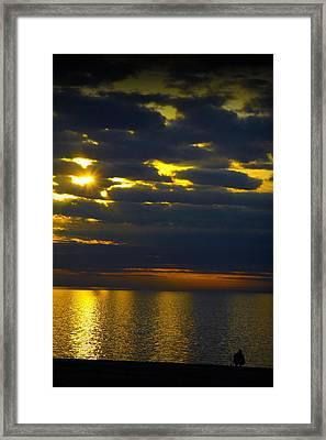 Lake At Dusk Framed Print