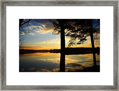 Lake At Sunrise Framed Print