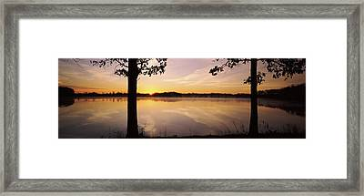 Lake At Sunrise, Stephen A. Forbes Framed Print by Panoramic Images