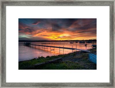 Lake At Sunset Framed Print