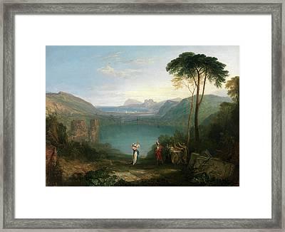 Lake Avernus Aeneas And The Cumaean Sybil Framed Print by Litz Collection