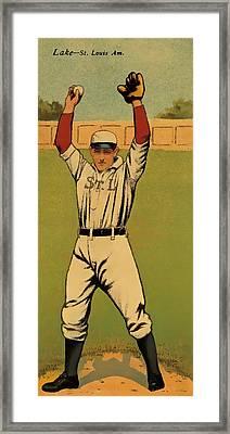 Lake Baseball Card Framed Print by David Letts