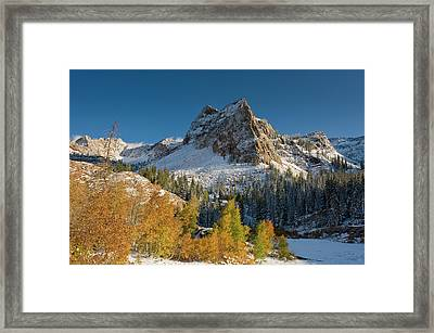 Lake Blanche Trail And Sundial Peak Framed Print
