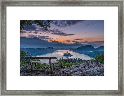 Lake Bled Framed Print by Robert Krajnc