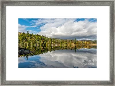 Lake Bodgynydd Framed Print by Adrian Evans