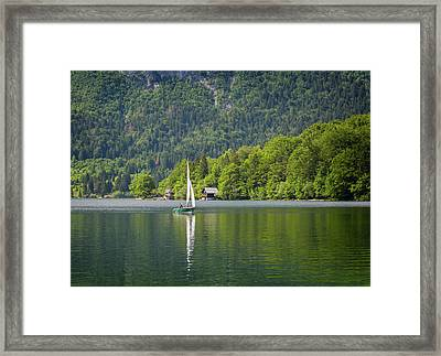 Lake Bohinj Bohinjsko Jezero, Triglav Framed Print