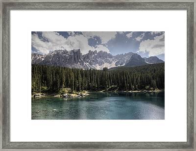 Lake Carezza Framed Print