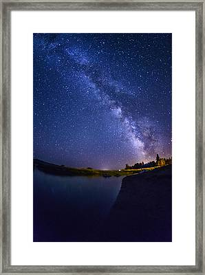 Lake Cascade And Milky Way Framed Print