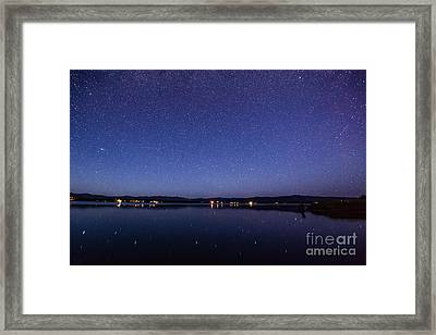 Lake Cascade Idaho By Night Framed Print