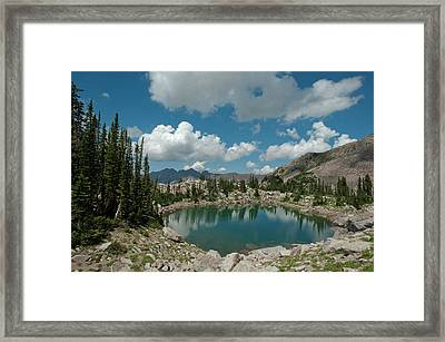 Lake Catherine, On The Brighton Lakes Framed Print by Howie Garber