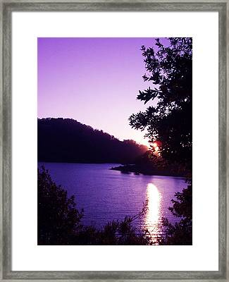 Lake Chabot On A Summer Eve Framed Print