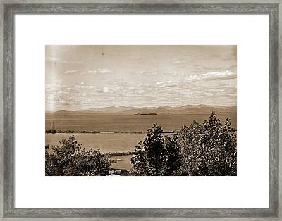 Lake Champlain, From Battery Park, Burlington, Vt, Lakes & Framed Print