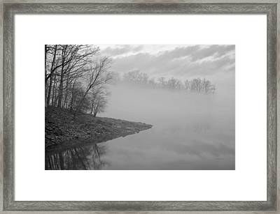 Lake Chatuge Lost In Fog Framed Print by Kenny Francis