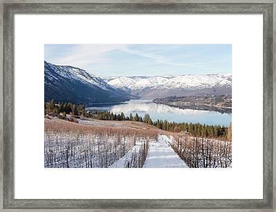 Lake Chelan In Winter Framed Print