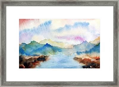 Lake Chuzenji Nikko Framed Print by Anna Ruzsan