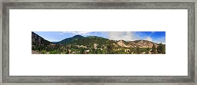 Lake City Colorado Mountain Range Framed Print
