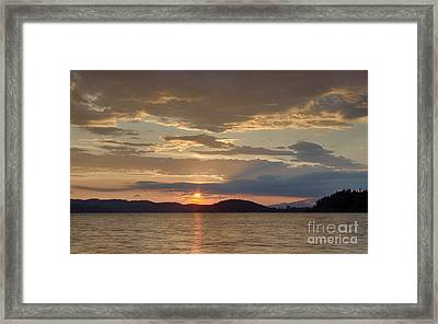 Lake Coeur D Alene Framed Print