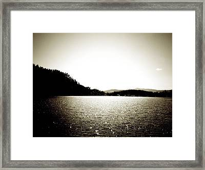Lake Coeur D'alene Framed Print by Terry Eve Tanner