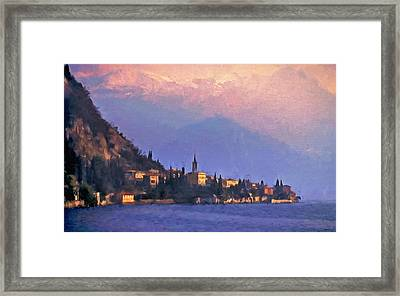 Framed Print featuring the painting Lake Como Italy by Douglas MooreZart