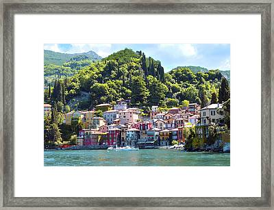 Framed Print featuring the photograph Lake Como - Italy by Haleh Mahbod