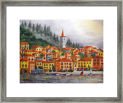 Lake Como Italy Framed Print by Val Miller