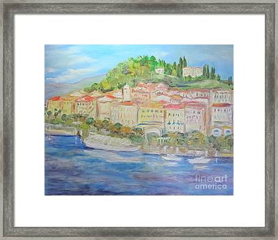 Lake Como Italy Village Framed Print