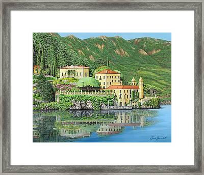Lake Como Morning Framed Print