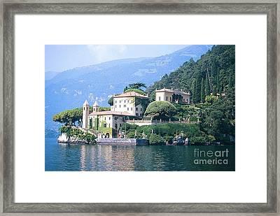Lake Como Palace Framed Print