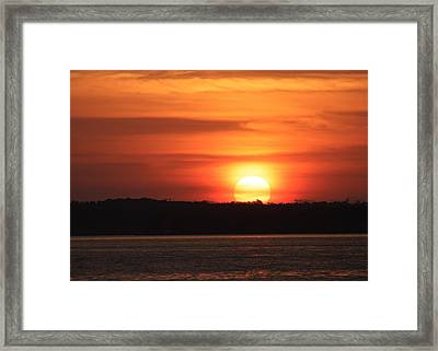 Framed Print featuring the photograph Lake Conroe Sunset by Ellen O'Reilly