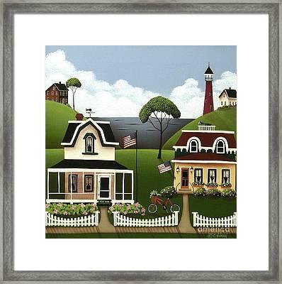 Lake Cottages Framed Print